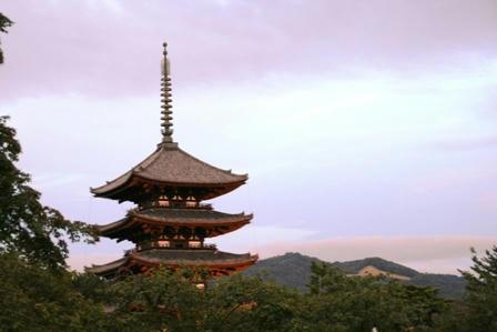 五重塔と高円山大文字M