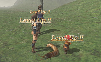 三人で同時レベルアップ!低レベルならでは。