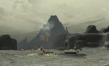 ゼオルム火山が遠くに見えます