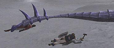 長い尻尾はモンハンプレイヤーには素材に見えて仕方ないらしい。