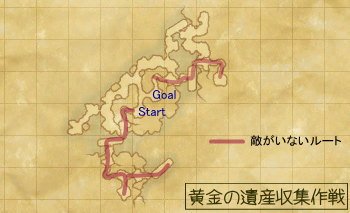 黄金の遺産収集作戦マップ