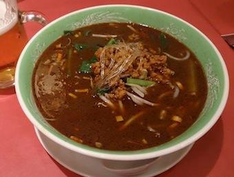 フカヒレ入り黒ゴマ担々麺