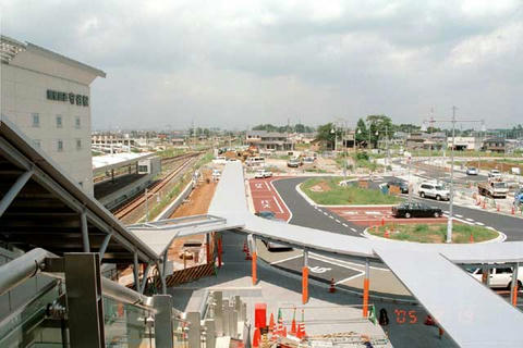 2005年8月の守谷駅東口