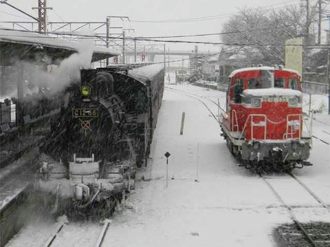 「SLもおか」号(2013年1月14日・下館駅)