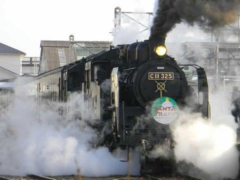 真岡鐵道SL重連(2010年12月19日・下館駅)