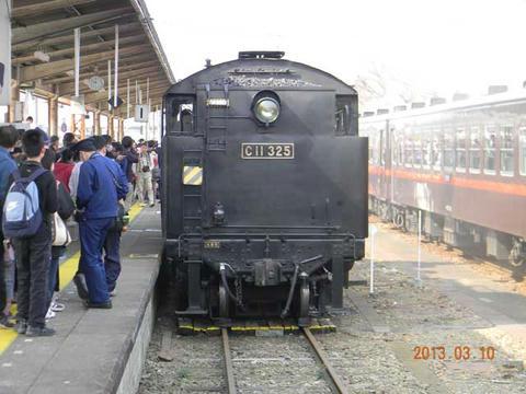 真岡鐵道SL重連(2013年3月10日・下館駅)