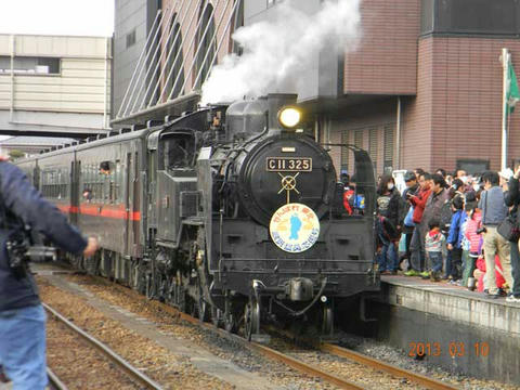 真岡鐵道SL重連(2013年3月10日・真岡駅)