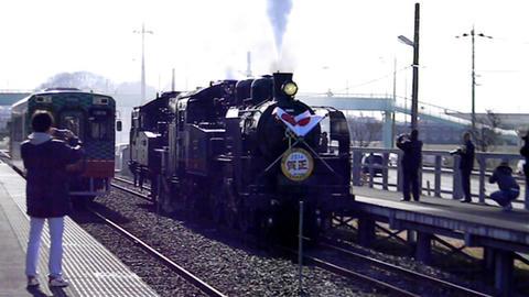 「SL単機重連運転」(2014年1月5日撮影)