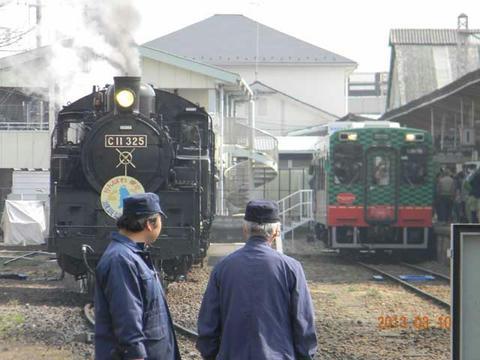 真岡鐵道SL重連(2013年)
