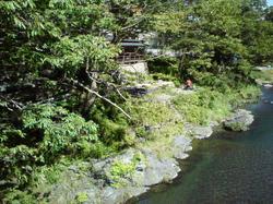 澤乃井 吊り橋からの景色