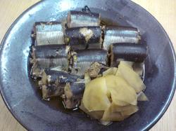 秋刀魚の筒煮