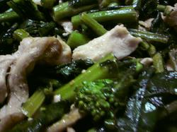 のらぼうな のらぼう菜と豚肉の炒め