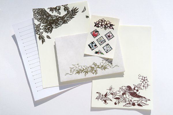 大橋忍&燕山切り絵レターセット