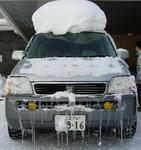 車も寒さに震えております