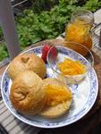 ベーグルと三宝柑マーマレード