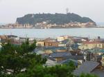 朝日の江ノ島