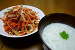 ソムタムと新玉スープ