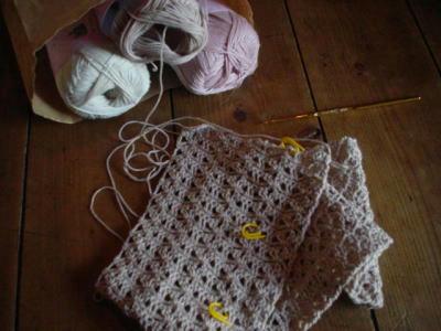 かぎ針編みのマフラー4