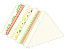 Illustration of food - 「Sandwich」