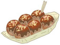 Illustration of food - 「Japanese food ・ Octopus ball」