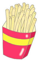 Illustration of food - 「French fries ・ Potato snack」