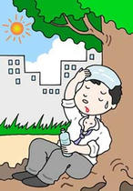 Illustration of health - 「Heat Disorder ・ Sun stroke」