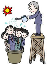 Business illustration - 「Personnel training ・ Employee education」