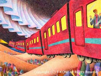 Night train ・ Colored pencil picture ・ Fantasy Picture