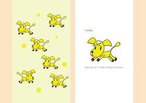 Dog picture ・ Interesting dog ・ Cheerful dog ・ Cute dog ・ Dog illustration