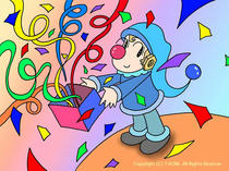 Clown ・ Pierrot picture ・ Pierrot illustration ・ Cartoon pierrot ・ Cute pierrot