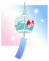 Wind bell ・ Cool breeze ・ Toy ・ Ornament ・ Poetic event of Japan