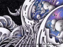 Mother ・ Science fiction ・ Alien ・ Colored pencil picture