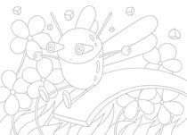 Slide ・ Jump ・ Flower garden ・ Insect