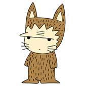 Cute ancient cat character - Neanderthal Cat
