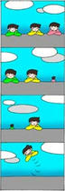 Nonsense Comic Strip - The last one person