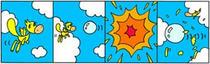 Fairy tale comic Strip - Explosion