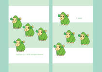 "Cartoon character ""Pleasant animal"" - Cartoon character - Green gorilla"