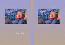 "Fairy tale story ""Angel Dog"" - The sky of aurora"