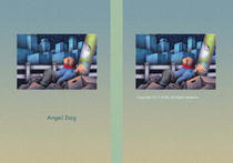 "Fairy tale story ""Angel Dog"" - Night of city"