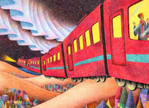 Free Art, Illustrations, Pictures and Images 「Fantasy - Night train」