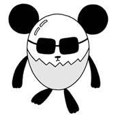 Original cartoon character design 「Shy person's egg panda cartoon - Panda like egg」