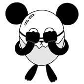 Original cartoon character design 「Shy person's egg panda cartoon - Very shy person」