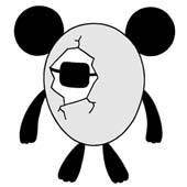 Original cartoon character design 「Shy person's egg panda cartoon - Uniform of husk of egg」