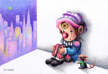 Free Art, Illustrations, Pictures and Images 「Romantic pierrot - Corner of city」