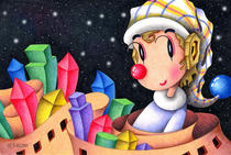 Free Art, Illustrations, Pictures and Images 「Romantic pierrot - City of block」