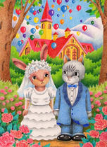 Free Art, Illustrations, Pictures and Images 「Animal illustration - Wedding」
