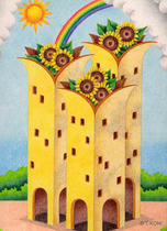 Free Art, Illustrations, Pictures and Images 「Building - Sunflower tower」