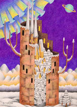 Free Art, Illustrations, Pictures and Images 「Building - Snow tower」