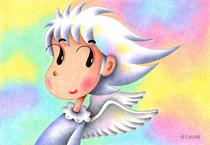 Free Art, Illustrations, Pictures and Images 「Cute angel - Rainbow angel」