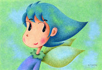 Free Art, Illustrations, Pictures and Images 「Cute angel - Leaf angel」